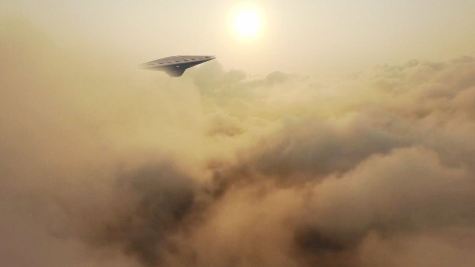 👽 Strange UFO Spotted in the Clouds by Drone (CGI)