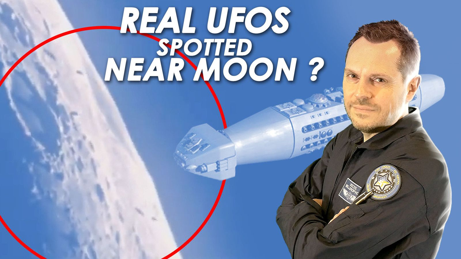 👽 Cylinder Shaped UFOs Spotted Near Moon (from Montreal, France March 2020) - Real UFOs ?
