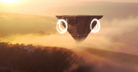 👽 Alien Mothership With Interdimensional Portals in the sky of Italy (CGI)