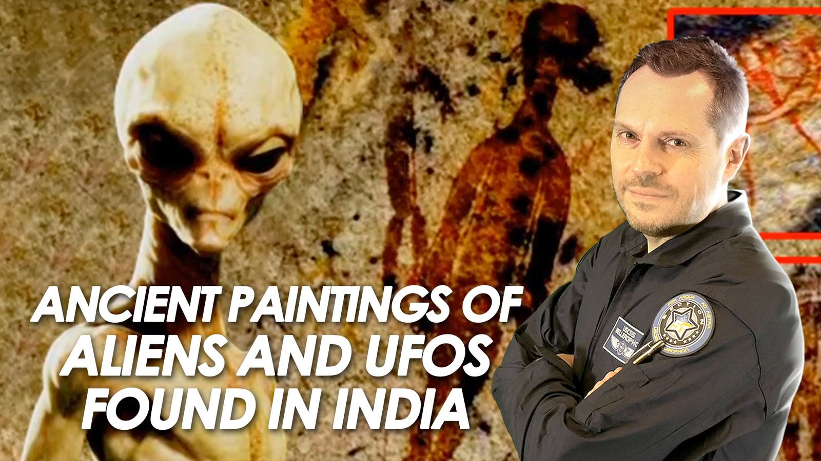 👽 10,000 Year Old Painting with Extraterrestrial Beings and UFOs Found in India