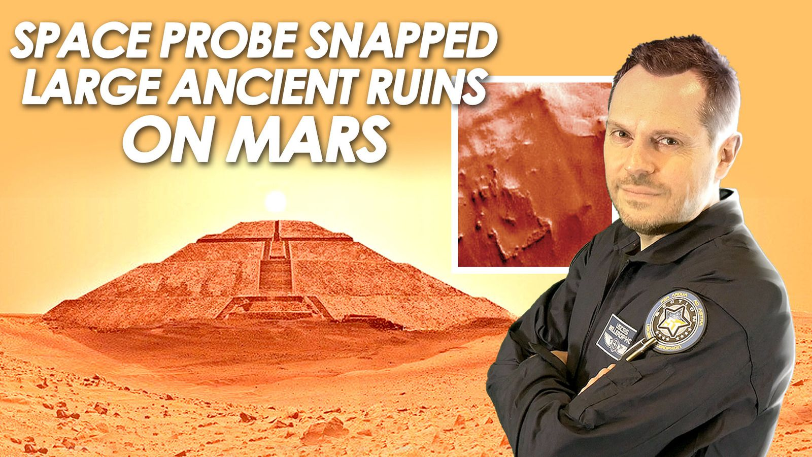 👽 Space Probe Snapped Large Ancient Ruins on Mars