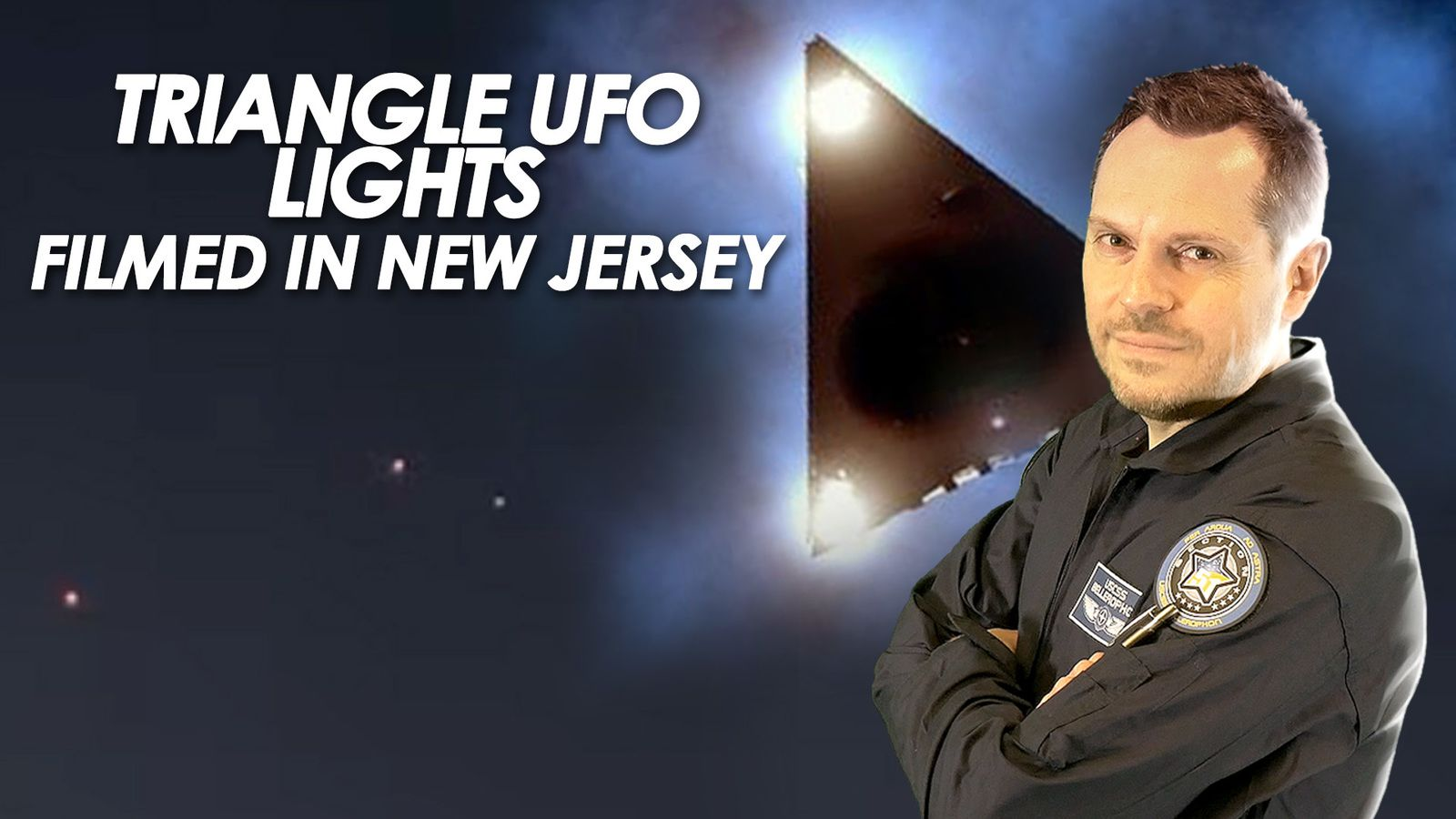 👽 Triangle UFO Lights Filmed in New Jersey