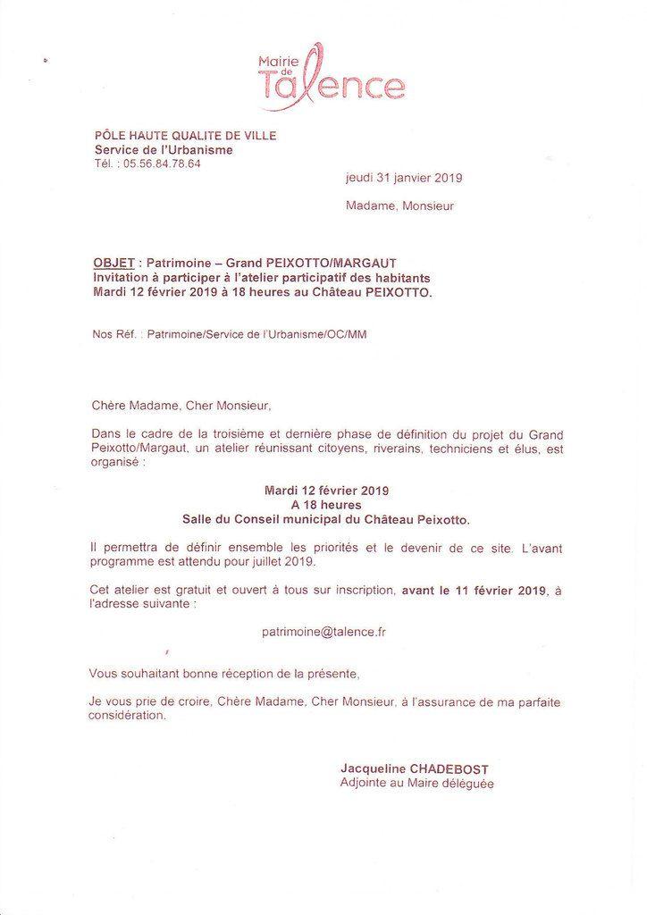 INFO MAIRIE GRAND PEIXOTTO / MARGAUT -