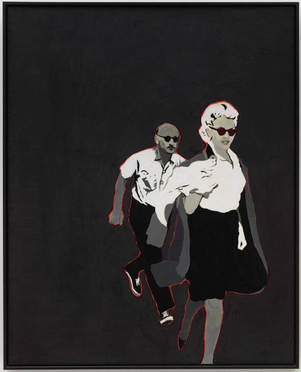 Marilyn pursued by death / 1963 / Rosalyn Drexler