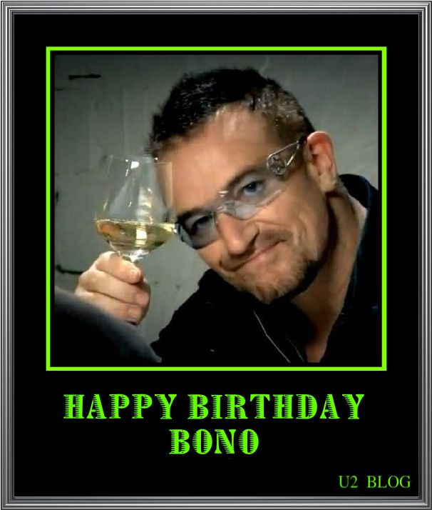 Happy Birthday BONO 55ans