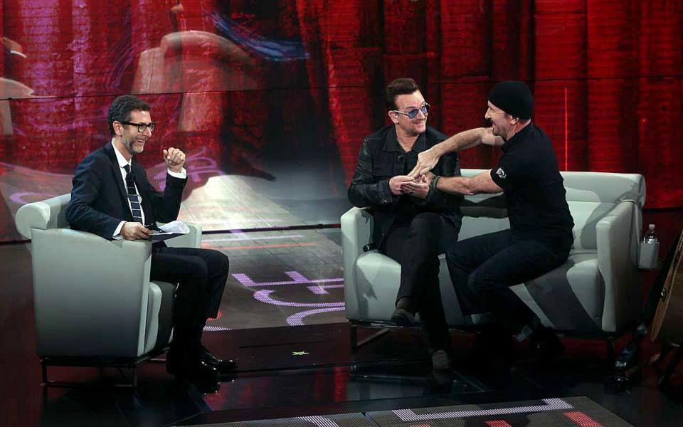 U2- Rai 3 Italie 12-10-2014 promo tour