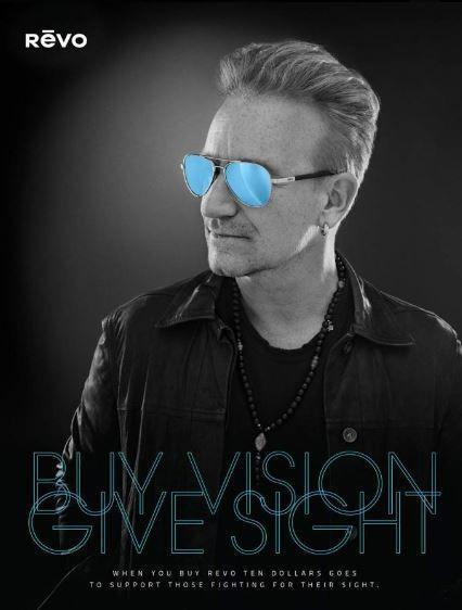 "Bono et Revo lancent l'opération ""Buy Vision, Give Sight"". RelaxNews  /  Sam Jones Photography"