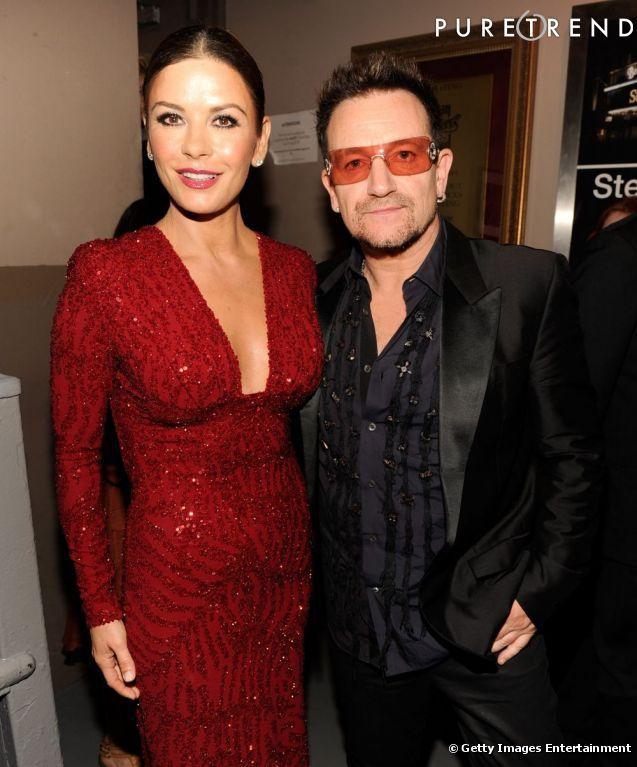 Catherine Zeta-Jones et Bono.
