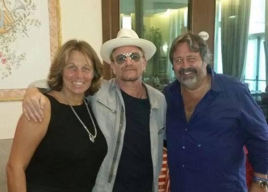 Bono au palais Lovera à Cuneo en Italie 15/08/2015