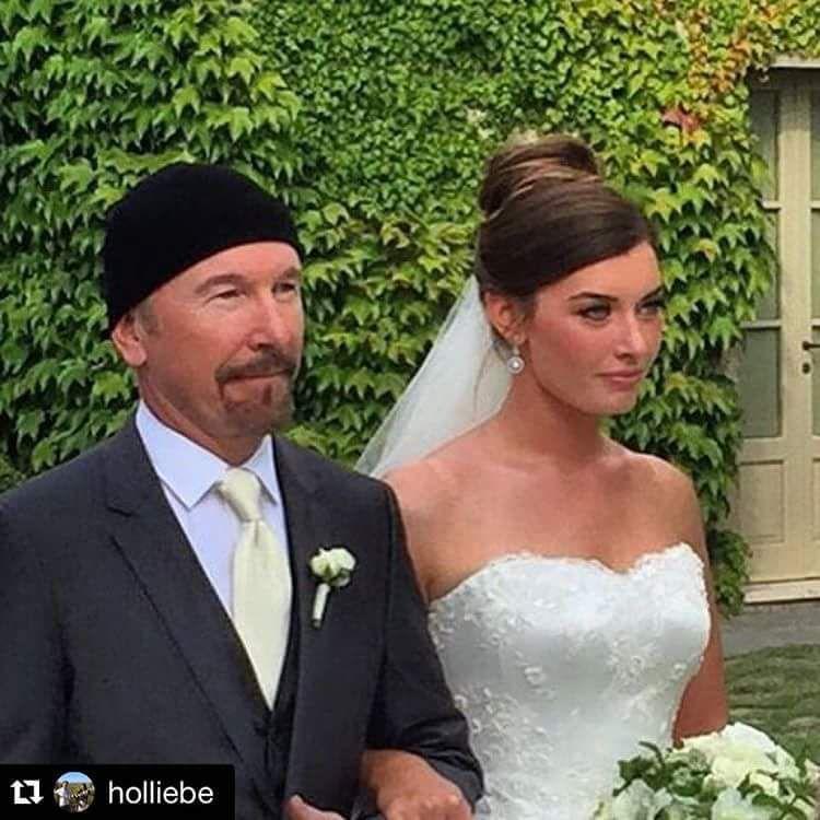 The Edge à marié sa fille la semaine dernière à Toscane en Italie !