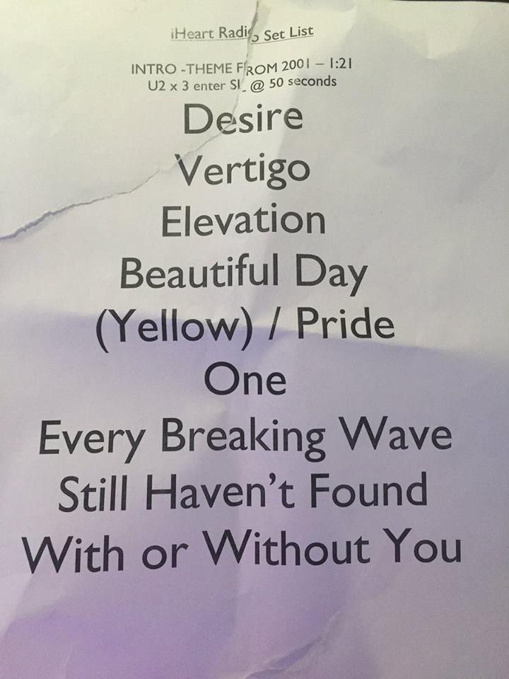 U2 Mini concert à iHeart Las Vegas 23 Septembre 2016
