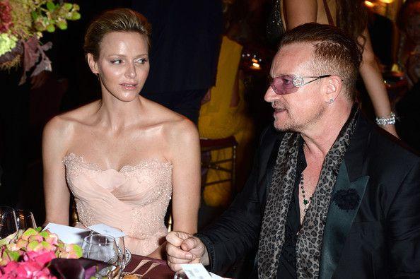 Natalia Vodianova et Bono au Gala Love Ball à Monaco