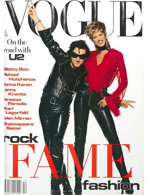 U2 -Magazine Vogue -Décembre 1992