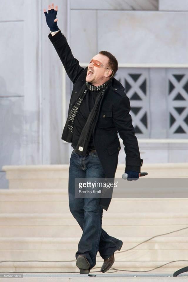 U2 -Lincoln Memorial - Washington, États-Unis -18/01/2009