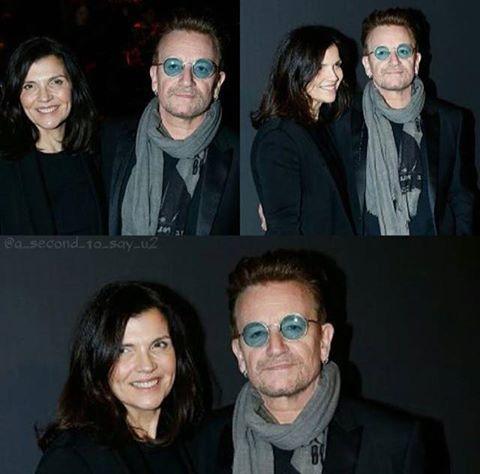 Bono et Ali sont à Paris au défilé Dior Homme le 21/01/2017