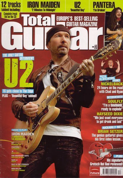 U2 -Magazine Total Guitare -Novenbre 2005