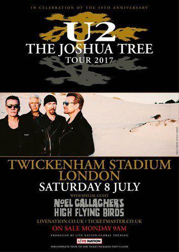 U2 -Affiche concert -Londres Royaume-Uni-08-07-2017