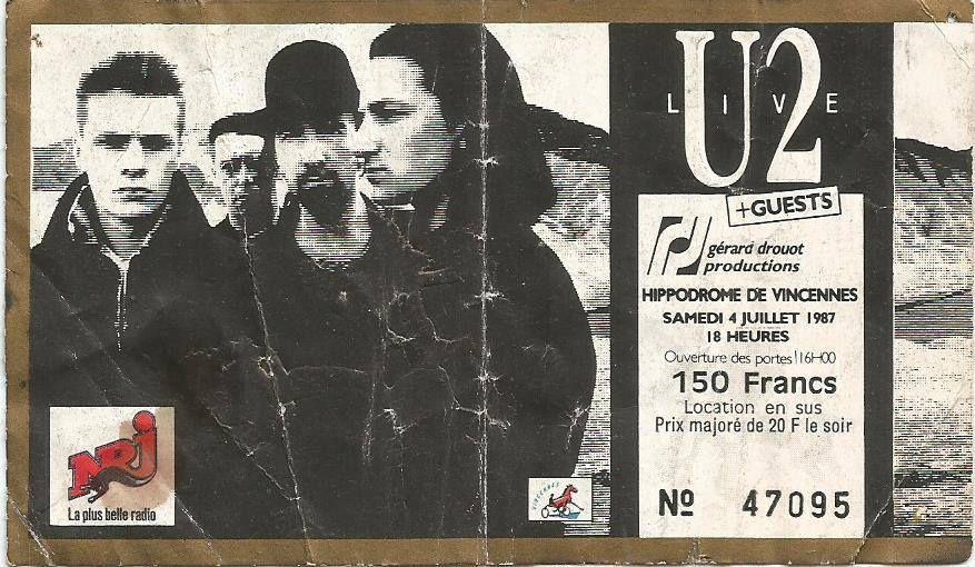U2 -Joshua Tree Tour -04/07/1987 -Paris -France -Hippodrome de Vincennes