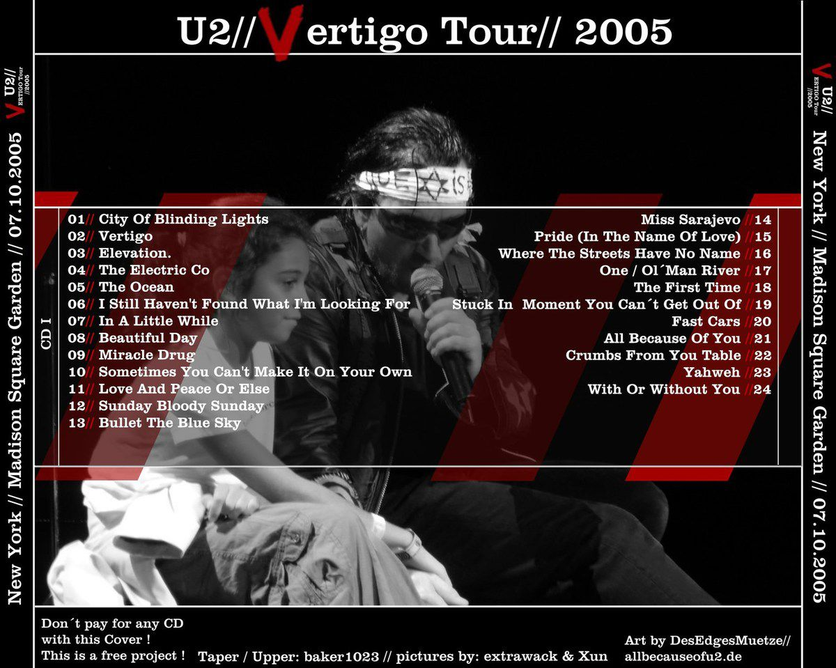 U2 -Vertigo Tour -New York, USA 07/10/2005 -Madison Square Garden