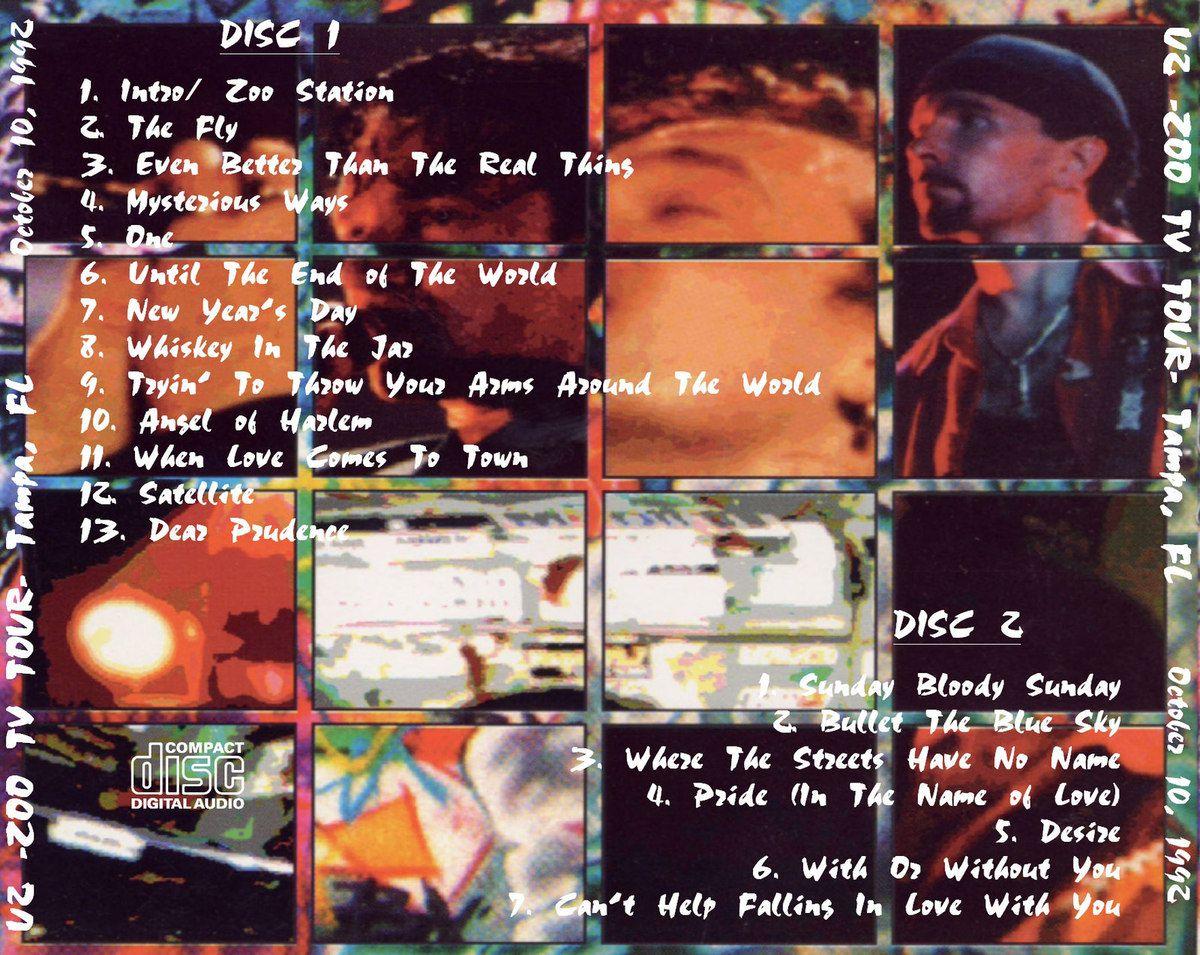 U2 -ZOO TV Tour -Tampa  USA 10/10/1992-Tampa Stadium