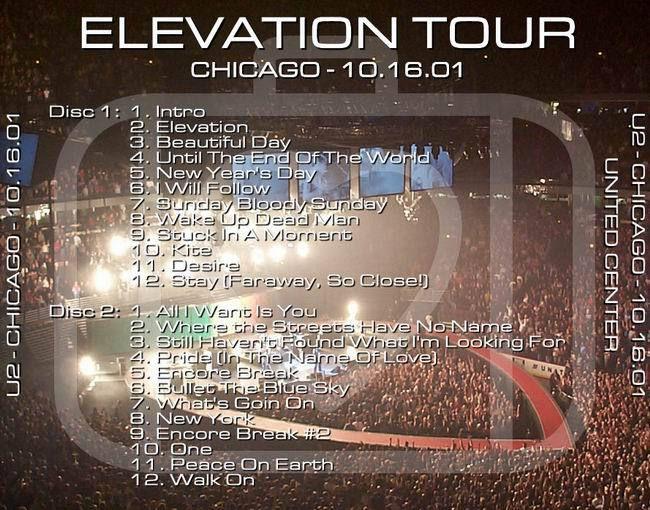 U2 -Elevation Tour -16/10/2001 -Chicago -USA- United Center #2
