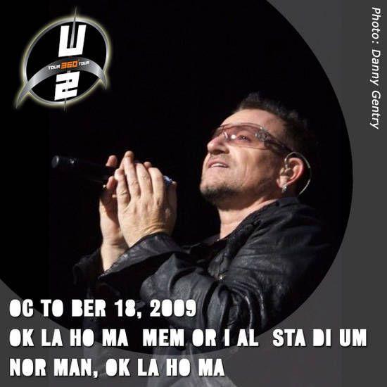 U2 -360° Tour -18/10/2009 -USA -Oklahoma -Memorial Stadium