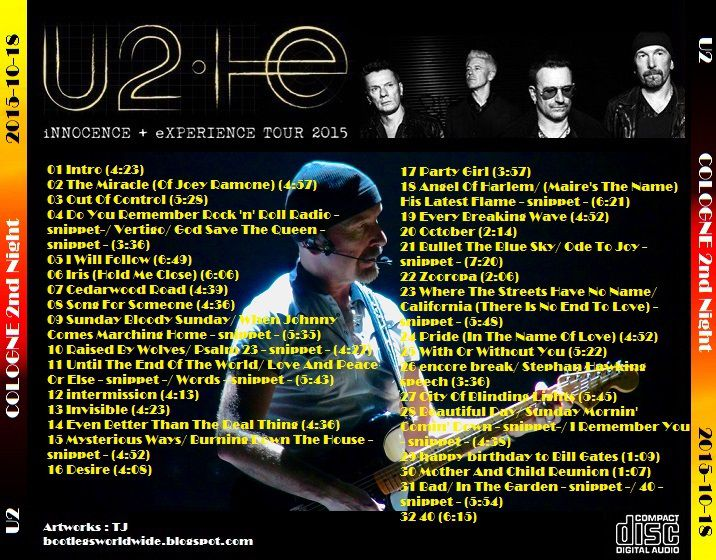 U2 -Innocence + Experience Tour -18/10/2015 -Cologne -Allemagne -Lanxess Arena #2