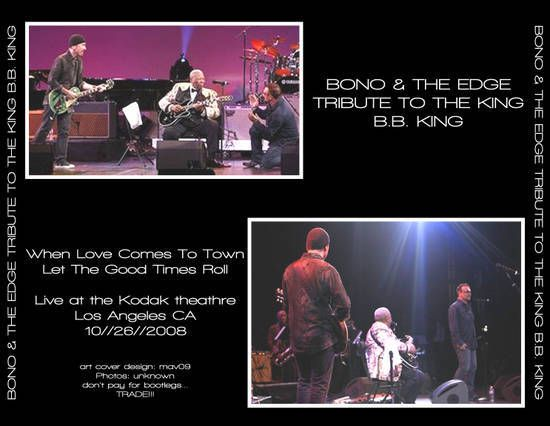 Bono et The Edge -Kodak Theatre - Los Angeles, California -26/10/2008
