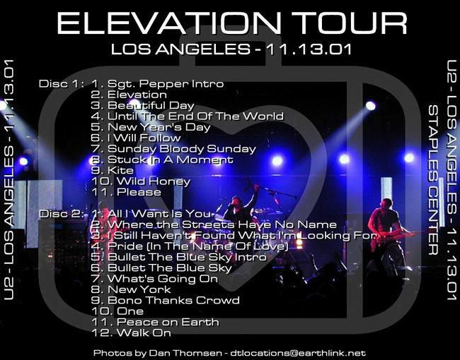 U2 -Elevation Tour -13/11/2001-Los Angeles USA- Staples Center #2