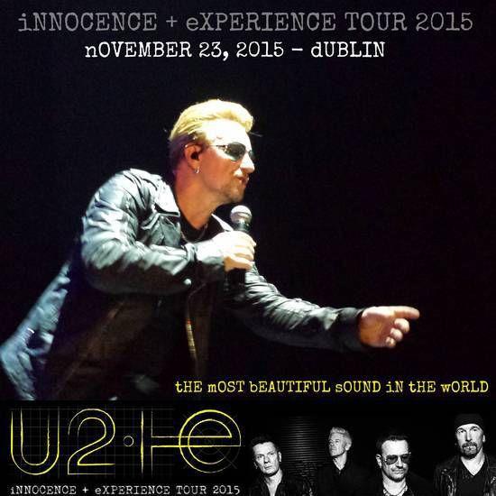 Premier des quatre concerts dans la ville de Dublin depuis 2009. Le groupe a promis que ces concerts seraient spéciaux avec notamment une partie de la recette directement reversée à Music Generation.