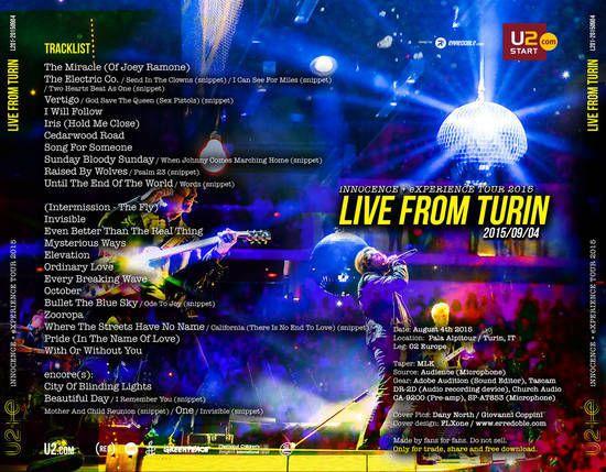 U2 -Innocence + Experience Tour -04/09/2015 -Turin -Italie -PalaAlpitour