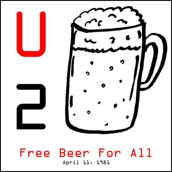 Le premier spectacle de U2 à Chicago. Le billet coûtait seulement 1 $ et inclus de la bière gratuite; il en résulte une foule considérable d'étudiants.