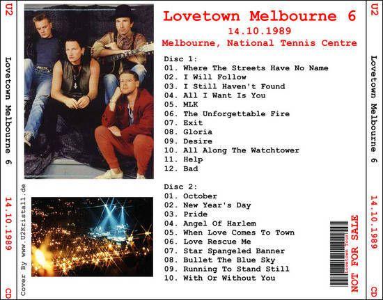 U2 -Lovetown Tour -14/10/1989 -Melbourne Australie- National Tennis Center #6