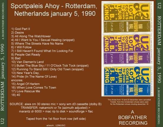 U2 -Lovetown Tour -05/01/1990 -Rotterdam  Pays-Bas -Ahoy #1