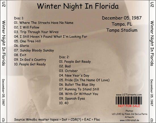 U2 -Joshua Tree Tour -05/12/1987 -Tampa - Tampa Stadium