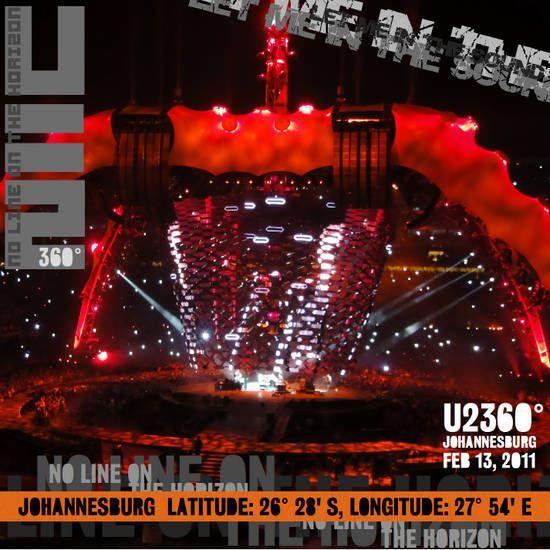 Pour la première fois de la tournée, Space Oddity n'a pas été jouée en musique d'intro. Elle a été remplacée par le remix de Get On Your Boots avec le Gospel de Soweto. Le groupe a joué I Still Haven't Found What I'm Looking For avec Hugh Masekela à la trompette. Scarlet n'a été jouée qu'en version instrumentale, Bono parlant de la libération de Aung San Suu Kyi. C'est la première fois depuis le 10 janvier 1990 à Rotterdam que le groupe a débuté un concert par une ancienne chanson.