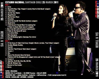 U2 -360° Tour -25/03/2011 -Santiago Chili - Estadio Nacional