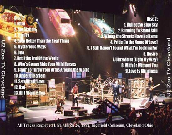 U2 -ZOO TV Tour -26/03/1992 -Richfield  -USA - Richfield Coliseum