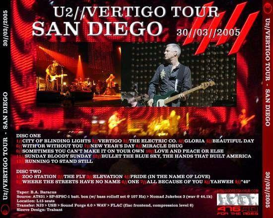 U2 -Vertigo Tour -30/03/2005 -San Diego, CA -US- Sports Arena #2