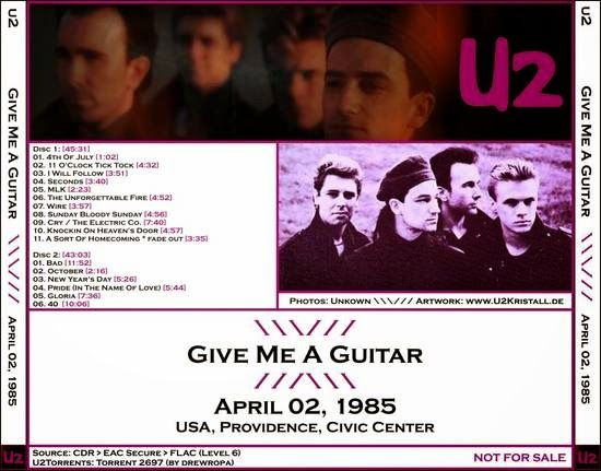 U2 -Unforgettable Fire Tour -02/04/1985 -Providence -USA- Providence Civic Center