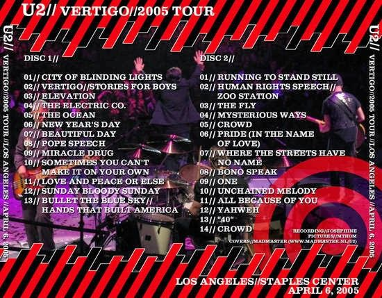U2 -Vertigo Tour -06/04/2005 -Los Angeles, CA -USA - Staples Center #2