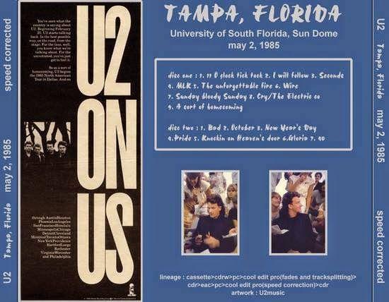U2 -Unforgettable Fire Tour -02/05/1985 Tempe- USA - Sun Dome