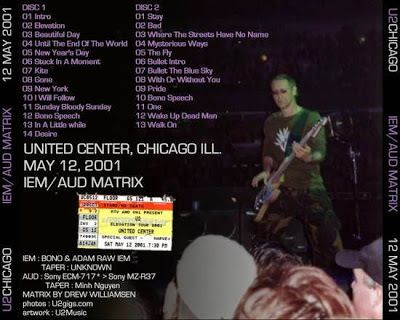 U2 -Elevation Tour -12/05/2001 -Chicago -USA - United Center #1