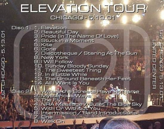 U2 -Elevation Tour -13/05/2001 -Chicago -USA - United Center #2