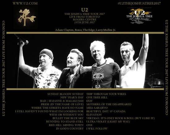 U2 -Joshua Tree Tour 2017 -23/06/2017 -Toronto -Canada- Rogers Centre