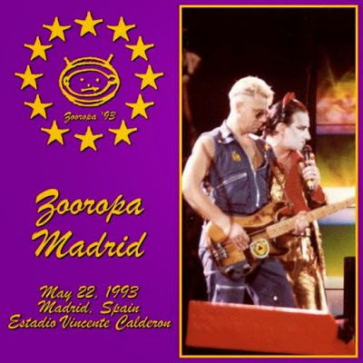 U2 -ZOO TV Tour -22/05/1993 -Madrid -Espagne- Estadio Vincente Calderon