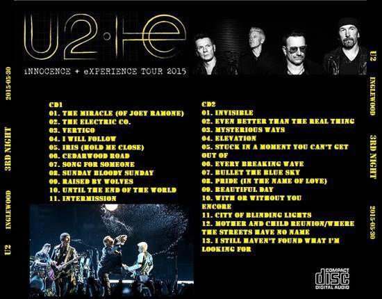 U2 -Innocence + Experience Tour -30/05/2015 -Los Angeles -Etats-Unis - Forum