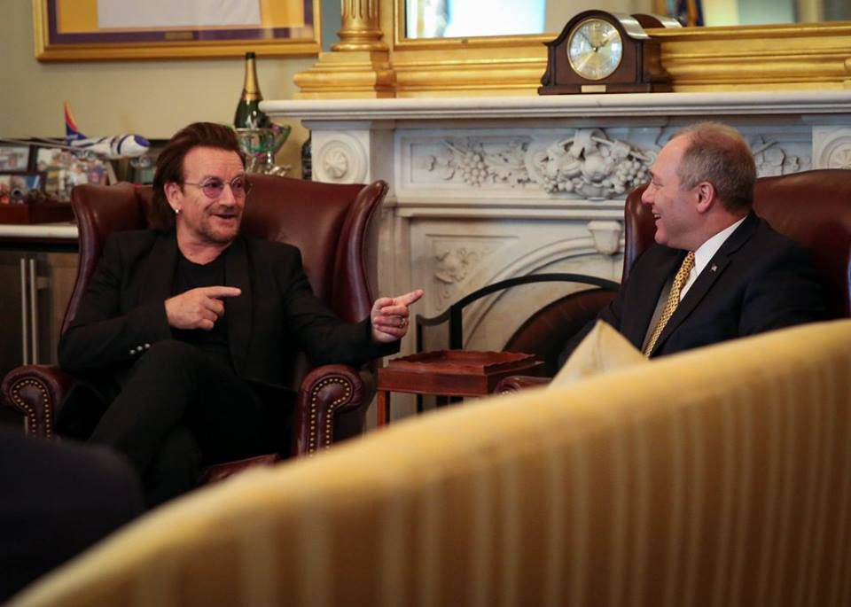 Bono et The Edge au Capitol Hill -Washington -19-06-2018
