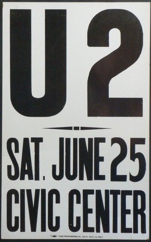 U2 -War Tour -25/06/1983 -Atlanta -USA - Civic Center