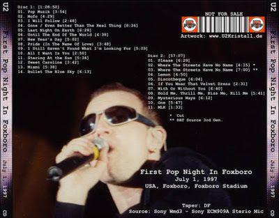 U2 -PopMart Tour -01/07/1997 -Foxboro -USA - Foxboro Stadium #1